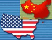 USA and China flagmaps